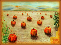 Pumpkin Field by Christi Ann Kuhner