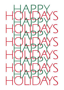 Happy Holidays by Sandra Wills