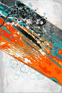 ao008 abstract color art fine orange by Rafal Kulik