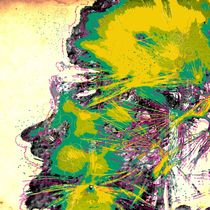 ao014 abstract color art fine modern green life heart happy by Rafal Kulik