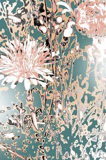 ao016 abstract color art fine modern life heart happy flower by Rafal Kulik