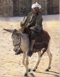 Donkey Rider in Cairo by Randy Sprout