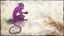 Violet ape by bear