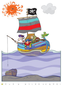 Funny pirate boat by Bobb Klissourski