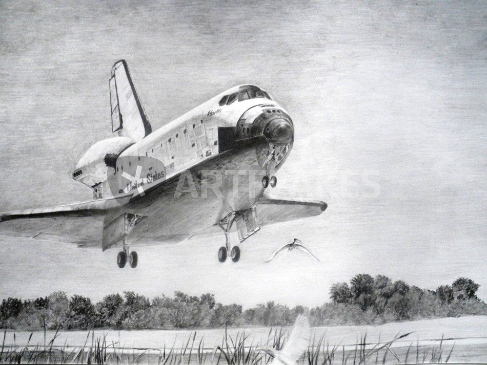 """Atlantis Space Shuttle Landing"