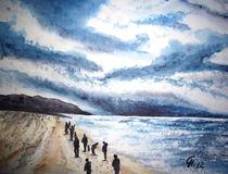 Menschen am Strand by Christine  Hamm