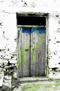 Cretan door no.4a by Pia Schneider