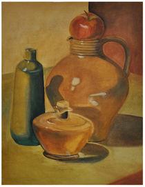 Krug und Apfel von Rosel Marci