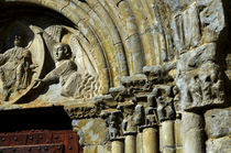 Romanesque front in spanish church Nuestra Sra de Baldos in Montanana by RicardMN Photography
