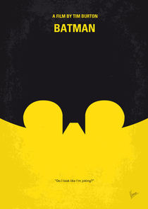 No008 My Batman minimal movie poster von chungkong