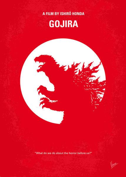 """No029-1 My Godzilla 1954 minimal movie poster"" Graphic ..."