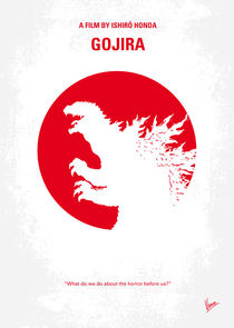 No029-2 My Godzilla 1954 minimal movie poster von chungkong