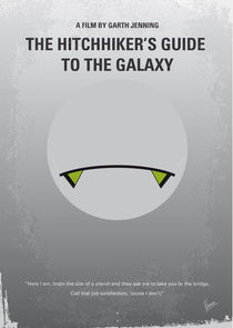 No035 My Hitchhiker Guide minimal movie poster von chungkong