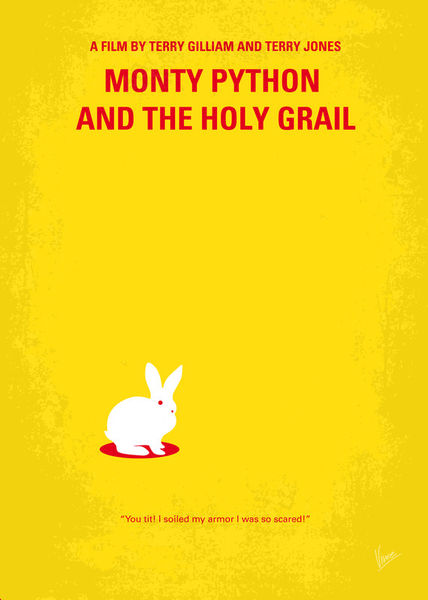 No036-my-monty-pyton-and-the-holy-grail-minimal-movie-poster