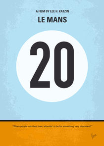 No038 My Le Mans minimal movie poster von chungkong