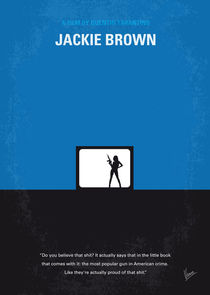 No044 My Jackie Brown minimal movie poster von chungkong