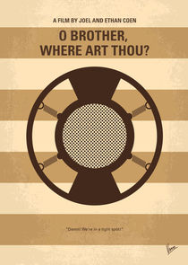 No055 My O Brother Where Art Thou minimal movie poster von chungkong