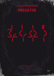 No066 My predator minimal movie poster von chungkong