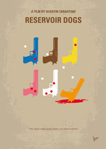 No069 My Reservoir Dogs minimal movie poster von chungkong