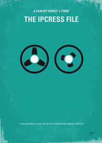 No092 My The Ipcress File minimal movie poster by chungkong