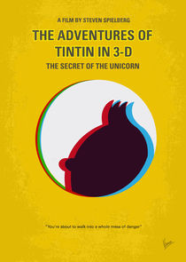 No096 My TINTIN-3D minimal movie poster by chungkong