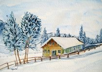 Winteridylle (ohne Text) by Christine Huwer