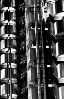 Lloyd's Building London Abstract  by David Pyatt