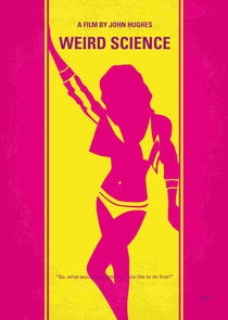 No106 My Weird science minimal movie poster von chungkong