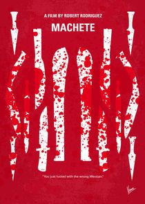 No114 My Machete minimal movie poster von chungkong