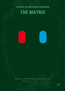 No117 My MATRIX minimal movie poster von chungkong