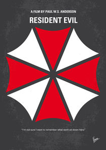No119 My RESIDENT EVIL minimal movie poster von chungkong