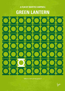 No120 My GREEN LANTERN minimal movie poster von chungkong
