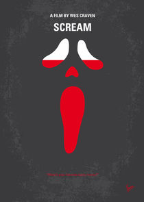 No121 My SCREAM minimal movie poster von chungkong