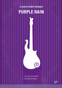 No124 My PURPLE RAIN minimal movie poster von chungkong