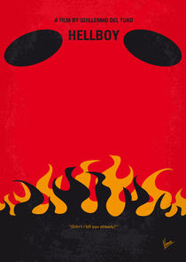 No131 My HELLBOY minimal movie poster von chungkong