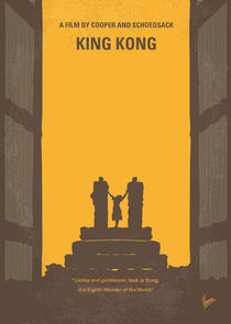 No133 My KING KONG minimal movie poster by chungkong