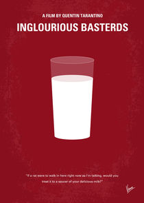 No138 My Inglourious Basterds minimal movie poster von chungkong