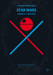 No154 My STAR WARS Episode IV A New Hope minimal movie poster von chungkong