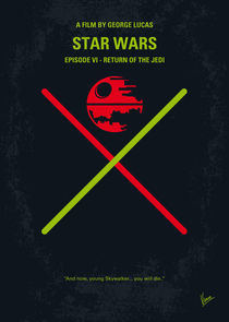 No156 My STAR WARS Episode VI Return of the Jedi minimal movie poster von chungkong