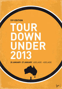 MY TOUR DOWN UNDER MINIMAL POSTER von chungkong