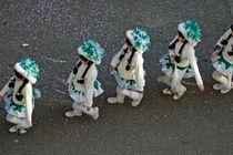 Fasnet Fasching Karneval - Frauen mit Kostümen marschieren by Matthias Hauser