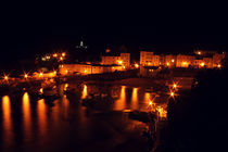 Tenby Harbour at Night by Dan Davidson