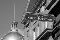 BONSECOURS MARKET SIGN Montreal Quebec von John Mitchell