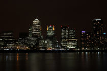 Canary Wharf Skyline at night von Dan Davidson