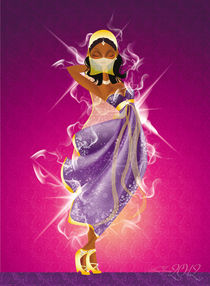 Indian Woman Dancing von Stacey Renee Bowers