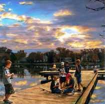 Boys on The Dock von Randy Sprout