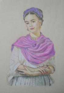 Portrait of Frida Kahlo von Alix Mordant