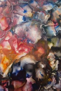 Hortensienblüten  I - Encaustic by Ulrike Kröll