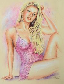 'Pink Farbe der Erotik - erotische Malerei' by Marita Zacharias