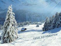 Weihnachtskarte (Schweizer Alpen) by Bettina Schnittert